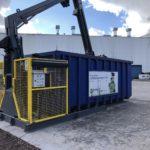 Equipement d'un rouleau compacteur pour déchets bois pour Benalu(62)